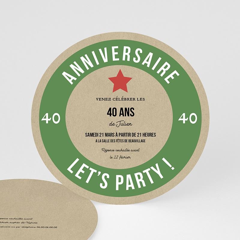 carte invitation anniversaire 40 ans biere allemande