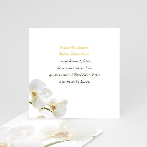 carton invitation personnalise invitation de l orchidee