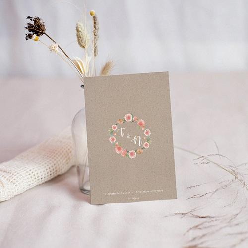 carton reponse mariage diademe floral rsvp