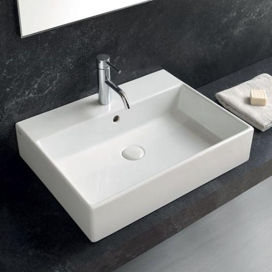 cielo smile rectangular washbasin 50 cm