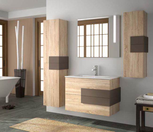 Bathroom Furniture Cronos Rovere Moka Opaco 1000 Casa39 Com
