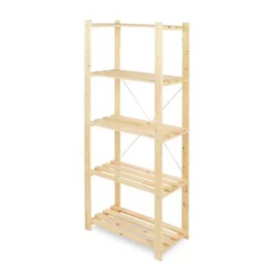 etagere bois symbios 5 tablettes l 75 x h 170 x p 40 cm