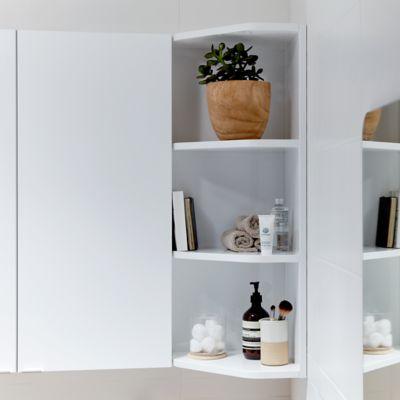 etagere d angle salle de bains blanc goodhome imandra 34 x 90 x 36 cm