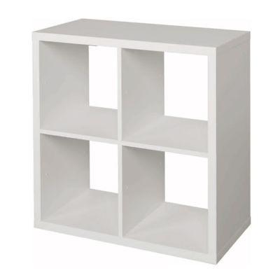 etagere modulable 4 cubes coloris blanc mixxit