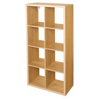 etagere modulable 8 cubes effet chene mixxit