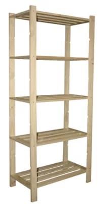 etagere pin massif 5 tablettes woodstock l 75 x h 170 x p 40 cm