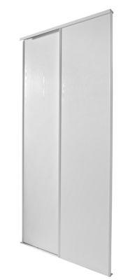 2 portes de placard coulissantes blizz blanc veine 150 x 250 cm
