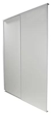 2 Portes De Placard Coulissantes Blizz Blanc Veine 180 X 250 Cm Castorama
