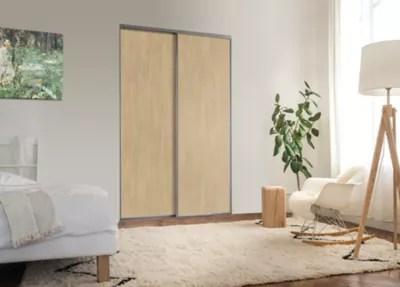 2 Portes De Placard Coulissantes Elegancia Decor Chene 180 X 250 Cm Castorama
