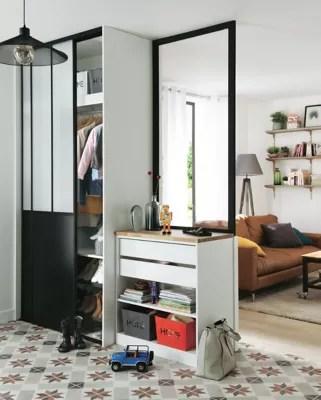 2 Portes De Placard Coulissantes Noires Atelier 180 X 250 Cm Castorama