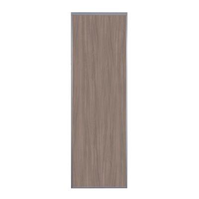 2 portes de placard coulissantes ravello decor chene grise 150 x 250 cm