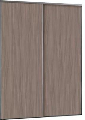 2 Portes De Placard Coulissantes Ravello Decor Chene Grise 180 X 250 Cm Castorama