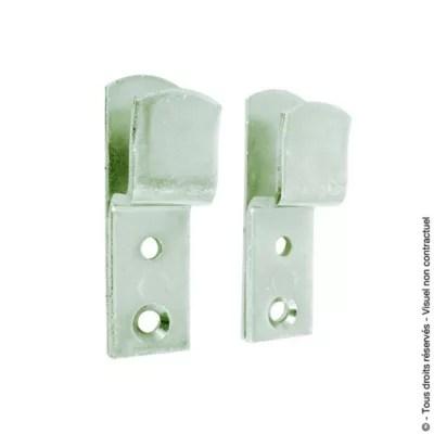 2 supports simples afbat pour barre de securite de volets