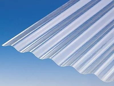 Plaque Polyester Petites Ondes Translucide 200 X 92 Cm Vendue A La Plaque Castorama