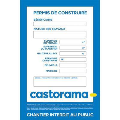 Panneau Affichage Travaux Castorama Gamboahinestrosa