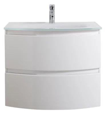 Meuble Sous Vasque Cooke Lewis Blanc Vague 70 Cm Plan Vasque En Resine Castorama