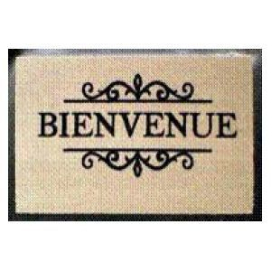 tapis coco blanchi imprime carreau