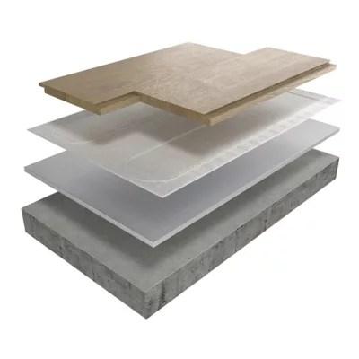 aluminium chauffage au sol mousse