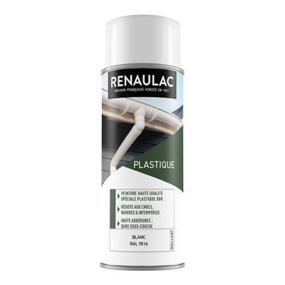 aerosol matieres plastiques blanc brillant 400ml