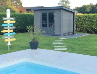 abri de jardin composite green outside toit plat 10 m ep 28 mm