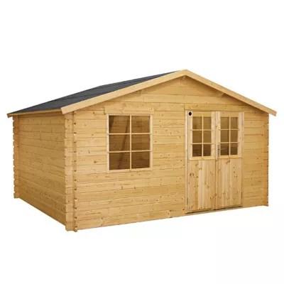 abri de jardin en bois peli ep 34 mm 12 05 m