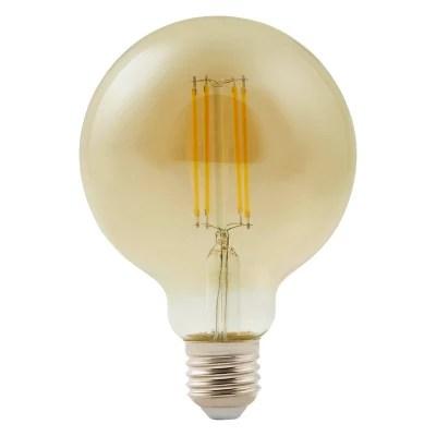 Ampoule Led Decorative Diall Globe O 95mm E27 9w 60w Blanc Neutre Castorama