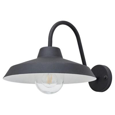 Applique Exterieure Blooma Umiat Noire Ip44 Castorama