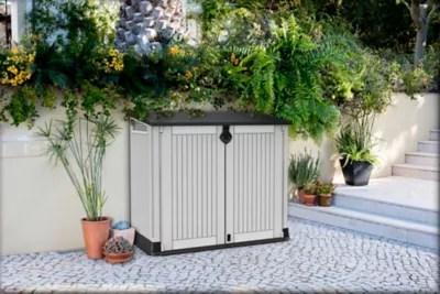 Armoire De Rangement Ou Abri Poubelles Polypropylene Keter Store It Out Midi Gris 880 L Castorama