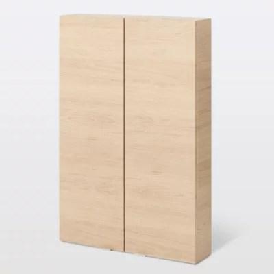 armoire de salle de bains goodhome imandra bois l 60 x h 90 x p 15 cm