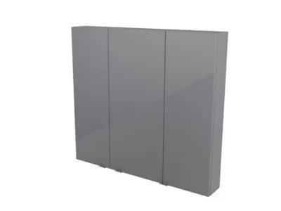 armoire de salle de bains goodhome imandra gris l 100 x h 90 x p 15 cm