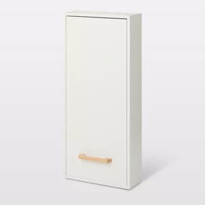 armoire de salle de bains goodhome ladoga blanc l 40 x h 90 x p 15 cm