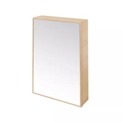 Armoire Miroir Placage Chene Naturel Goodhome Avela 50 Cm Castorama