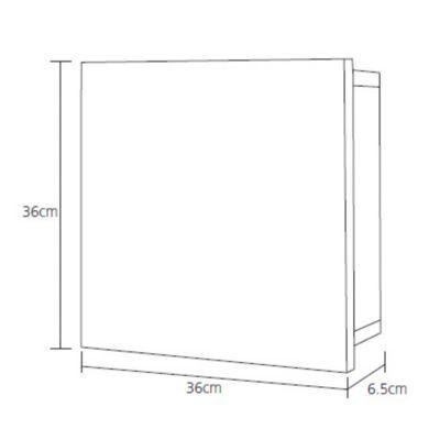 armoire a pharmacie coulissante cooke lewis tellot l 36 x p 6 5 x h 36 cm