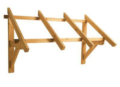 auvent bois pour porte d entree paraline 140 x 80 cm