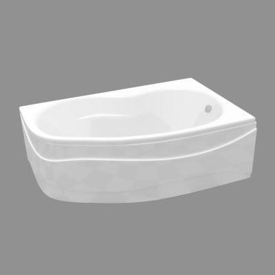baignoire asymetrique angle droit 160 x 102 cm cooke lewis