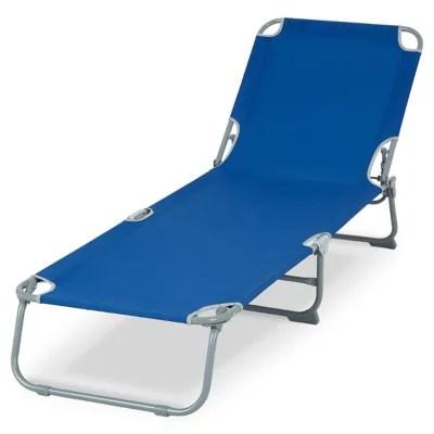 bain de soleil metal et toile curacao bleu saphir