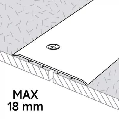Barre De Seuil Extra Large En Aluminium Decor Metal Mat Goodhome 100 X 1 800 Mm Castorama