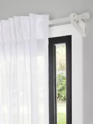 barre a rideau goodhome extensible ikaria blanc mat 120 210 cm