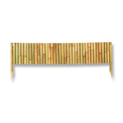 bordure bamboo blooma naturel l 100 x h 35 cm