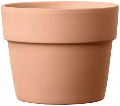 cache pot rond terre cuite perfetto white o13 x h 11 6 cm