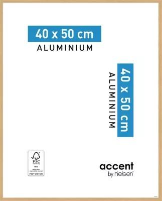 Cadre Photo Aluminium Chene Accent 40 X 50 Cm Castorama