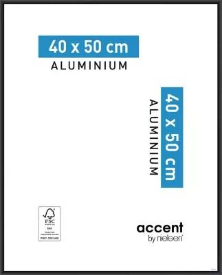 Cadre Photo Aluminium Noir Accent 40 X 50 Cm Castorama