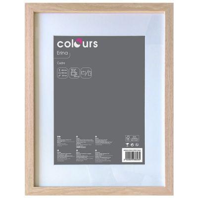 cadre photo effet chene colours erina 30 x 40 cm