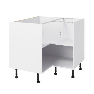 caisson bas d angle de cuisine goodhome caraway blanc h 72 cm x l 93 cm