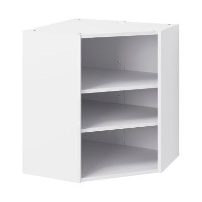 caisson haut d angle de cuisine 1 porte goodhome caraway blanc h 72 cm x l 63 cm