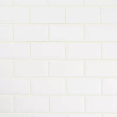 Carrelage Mur Blanc 10 X 20 Cm Trentie Castorama