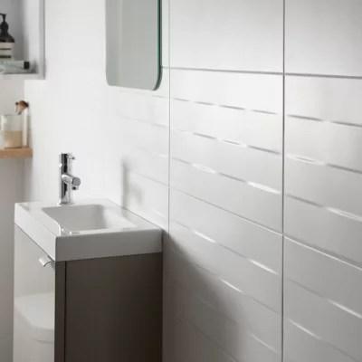 carrelage mur blanc effet relief 20 x