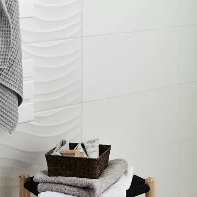 carrelage mur blanc 25 x 50 cm brindisie