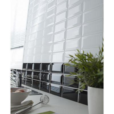 Carrelage Mur Blanc 7 5 X 15 Cm Hd2i Metro Vendu Au Carton Castorama
