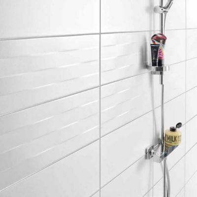 Carrelage Mur Blanc Effet Relief 20 X 50 Cm Cortese Vendu Au Carton Castorama